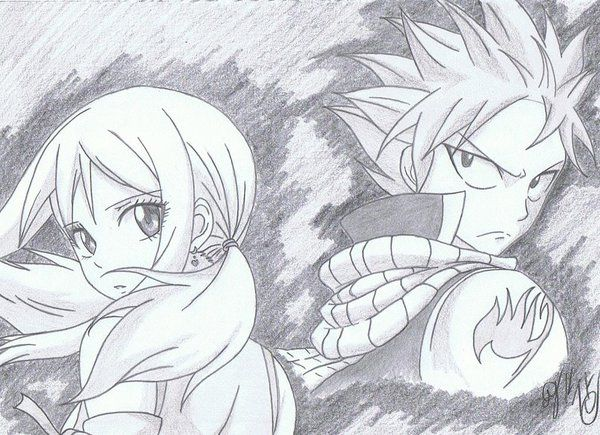 Natsu X Lucy Fairy Tail Art Fairy Tail Drawing Fairy Tail Anime