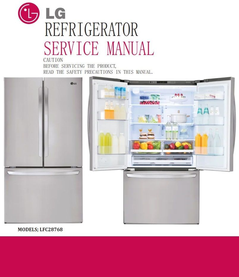 Lg Lfcs28768 Lfcs28768s Refrigerator Service Manual And Repair