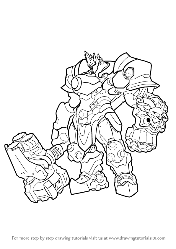 Learn How to Draw Reinhardt from Overwatch (Overwatch