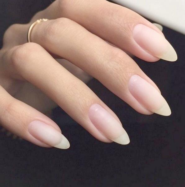 Home Blend Of Bites Natural Nail Designs Long Natural Nails Natural Nails
