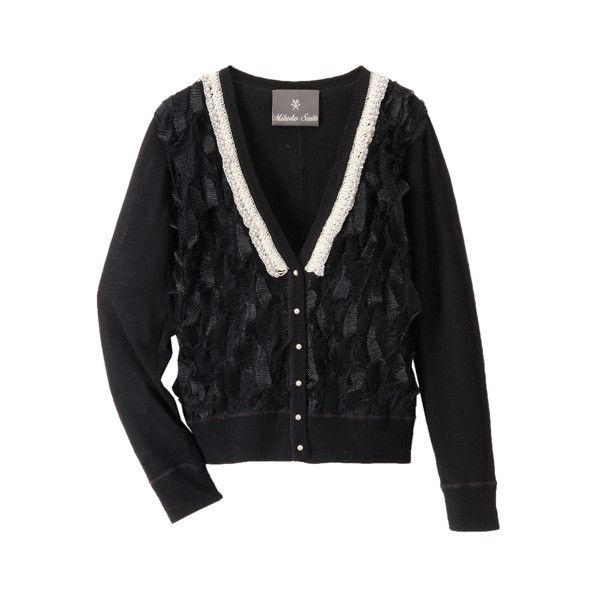 FRONT IMPORT LACE CARDIGAN (£180) ❤ liked on Polyvore featuring ...