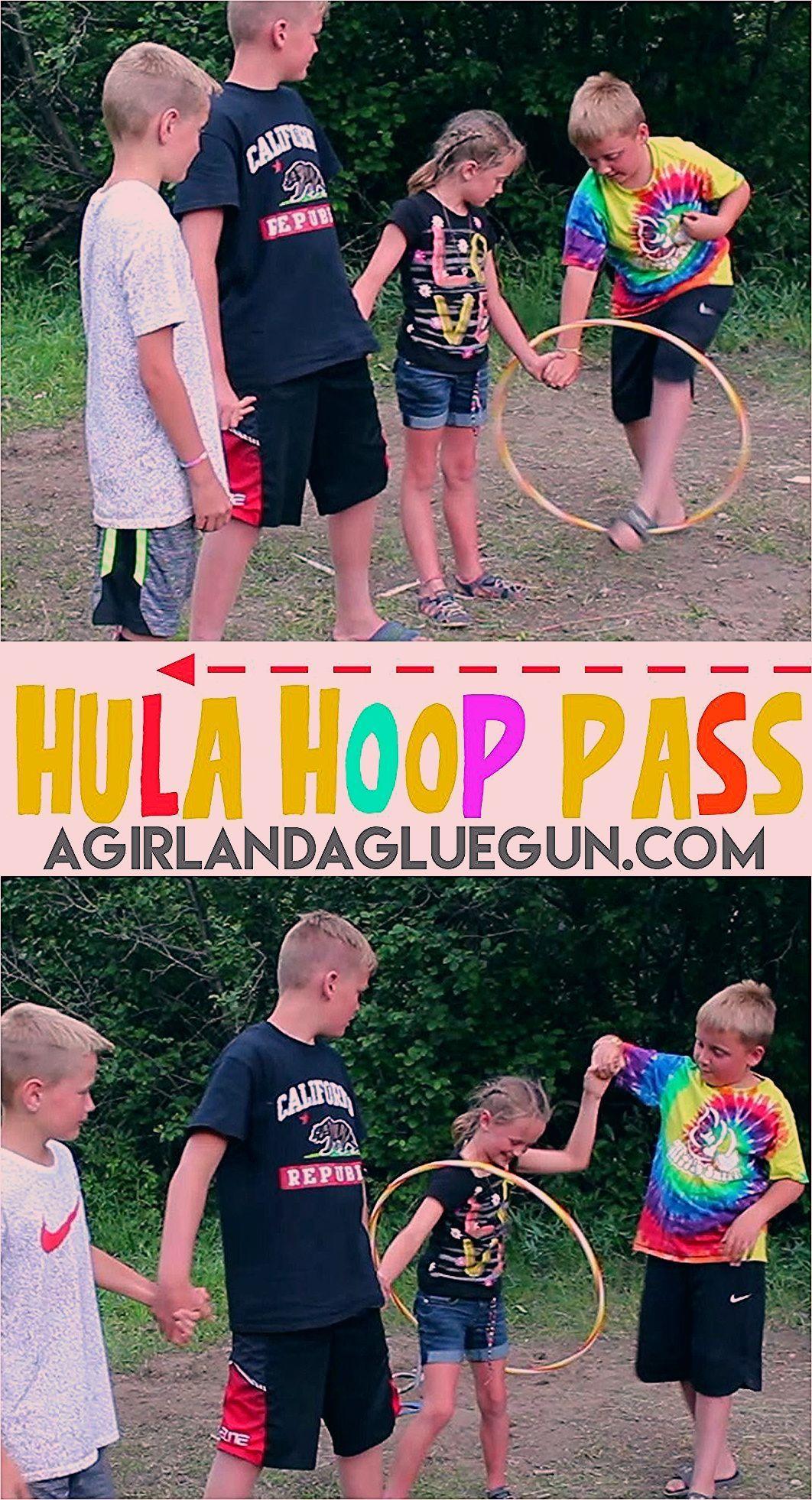 Photo of Hula Hoop Pass-fun activity – A girl and a glue gun
