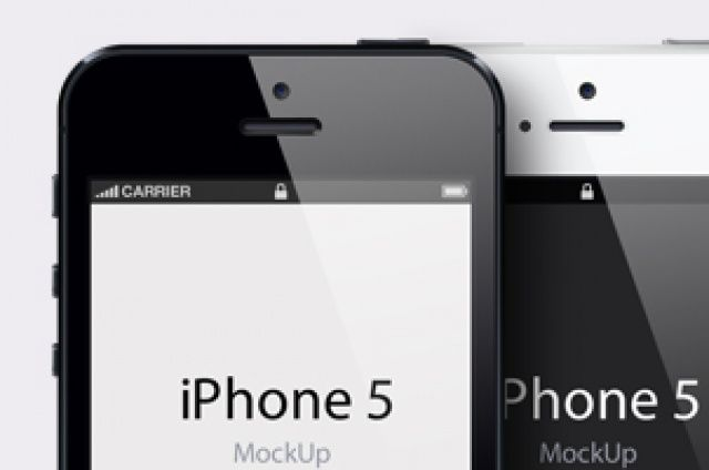 iPhone 5 vector mockup template is a fully-scalable vector ... Iphone 5 Template Psd