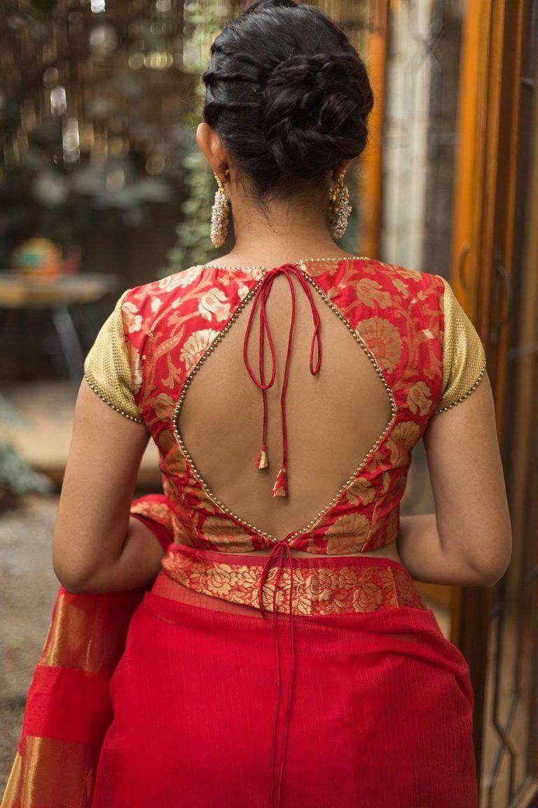 New & Latest blouse back designs 2019 | Silk saree blouse ...