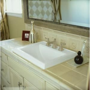 kohler memoirs selfrimming dropin bathroom sink in white model k - Kohler Memoirs