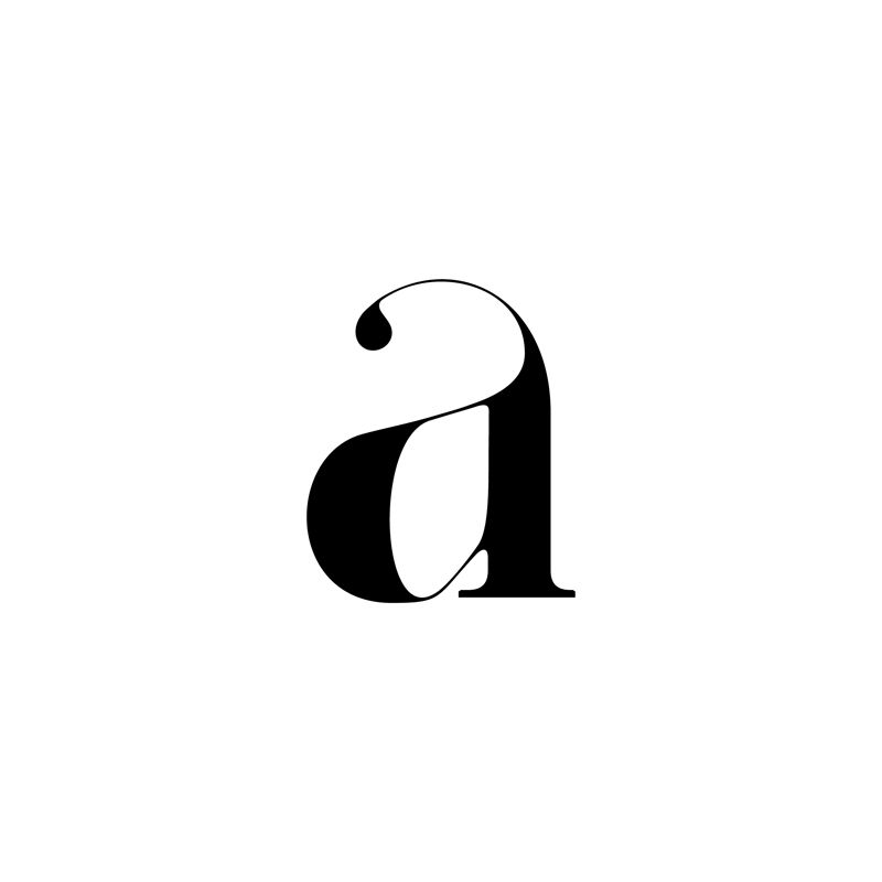 """a"" by Moshik Nadav #Typography #fonts #type | Six Pony Hitch"