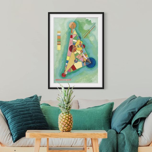 Poster con cornice Wassily Kandinsky Variegation In