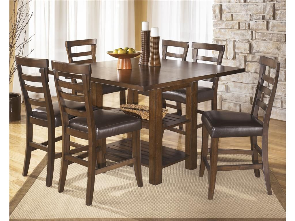 Signature Design Dining Room Square Drm Counter Ext Table 471700