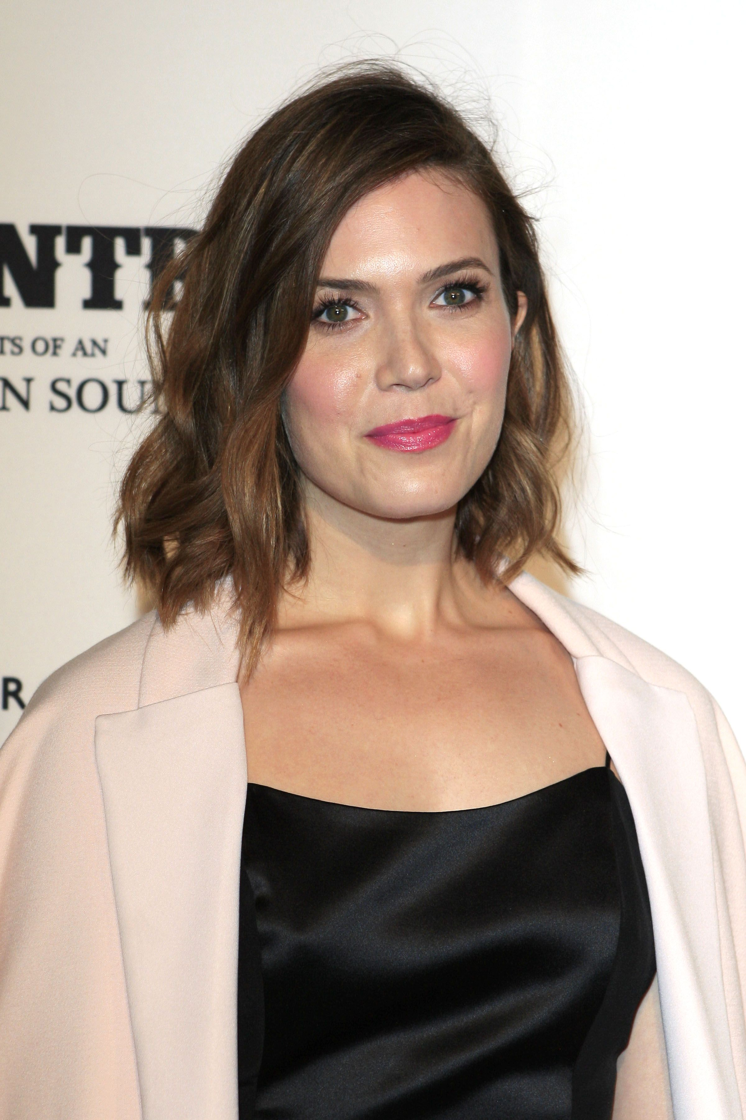 Mandy moore obsessed with her short haircut and bright pink