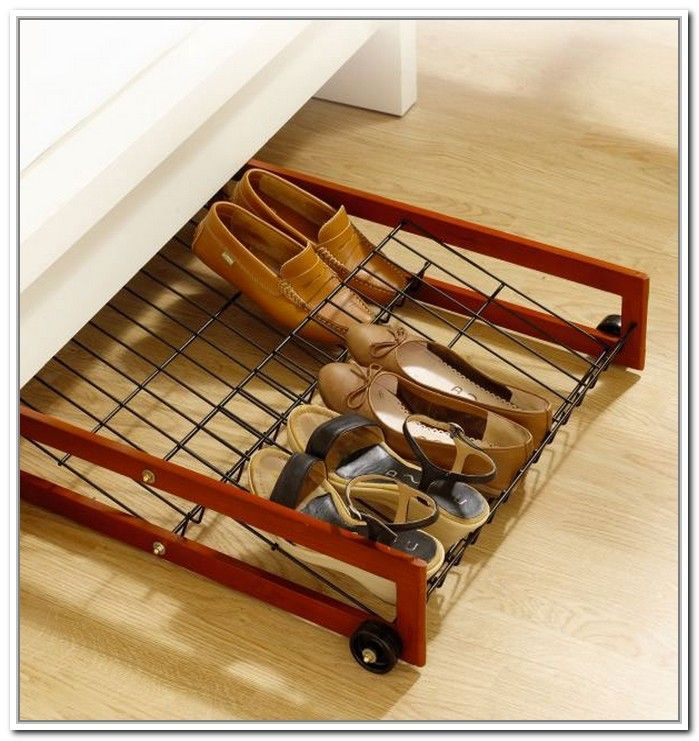 Underbed Shoe Storage With Wheels