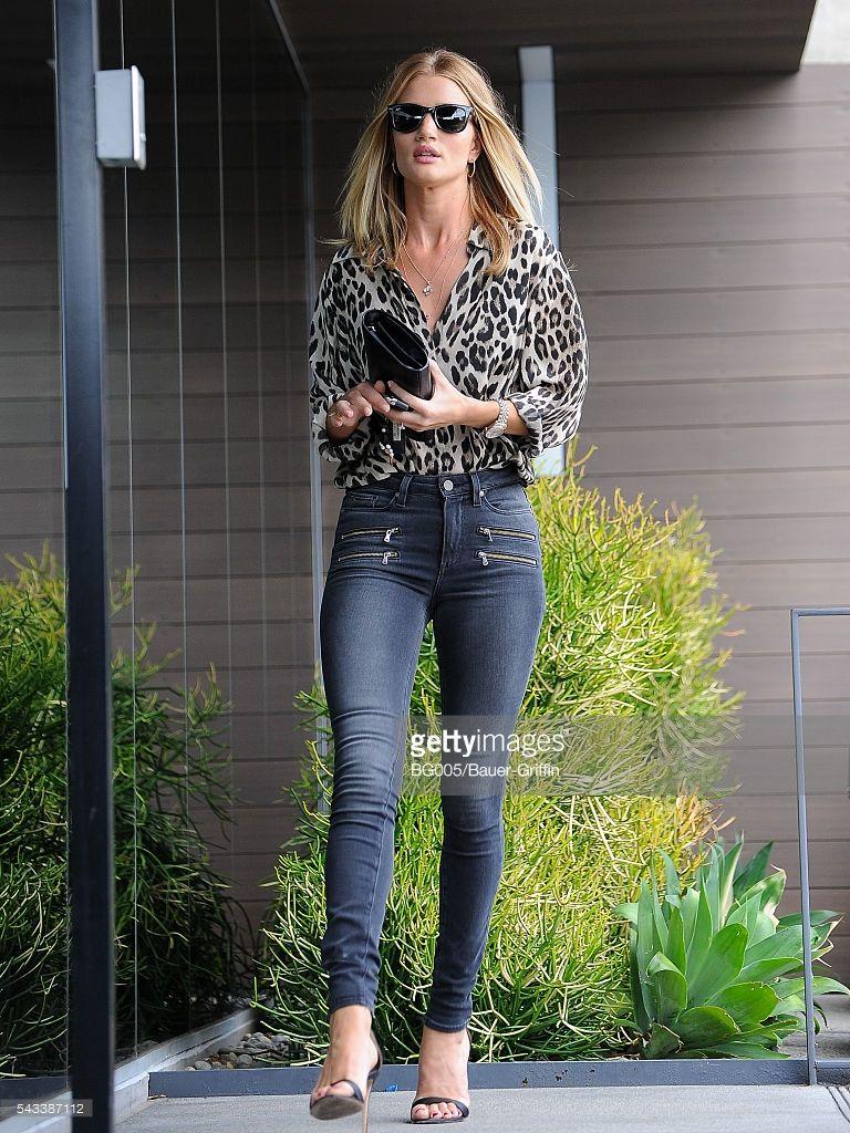 Rosie Huntington-Whiteley is seen on June 27, 2016 in Los Angeles, California.
