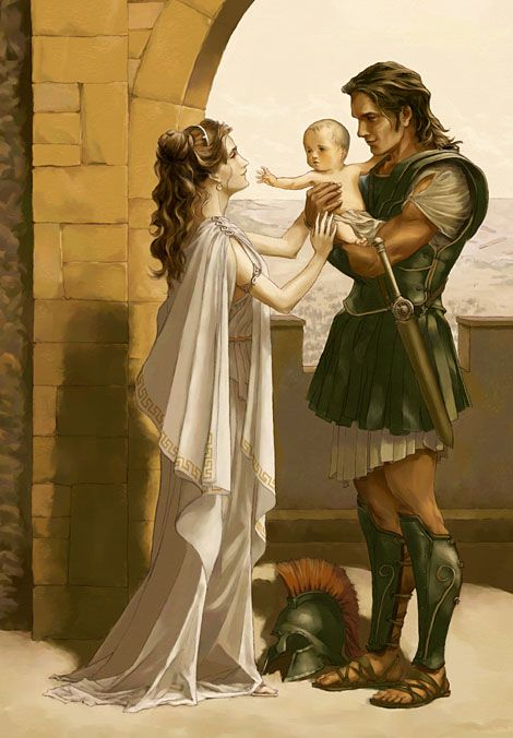 wife of hector in greek mythology