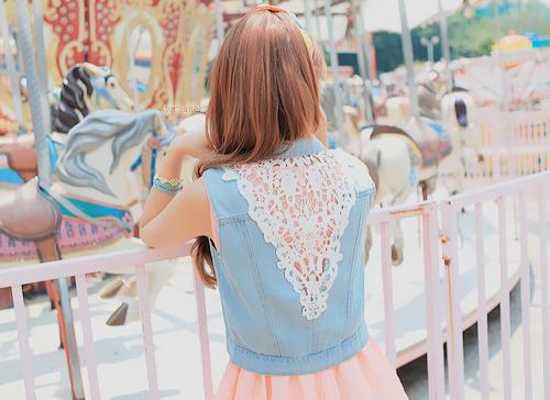 lace back denimidea