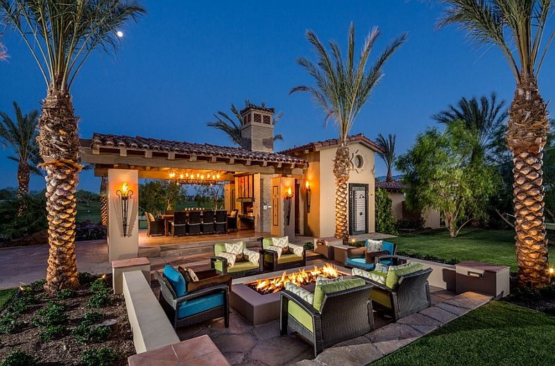 19 Mediterranean Style Patio With Sunken Seating And