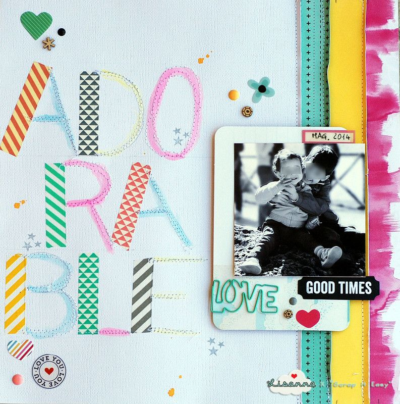 washi tape letters...great idea! #papercraft #scrapbook #layout. Adorable by Lisanna81 at @studio_calico