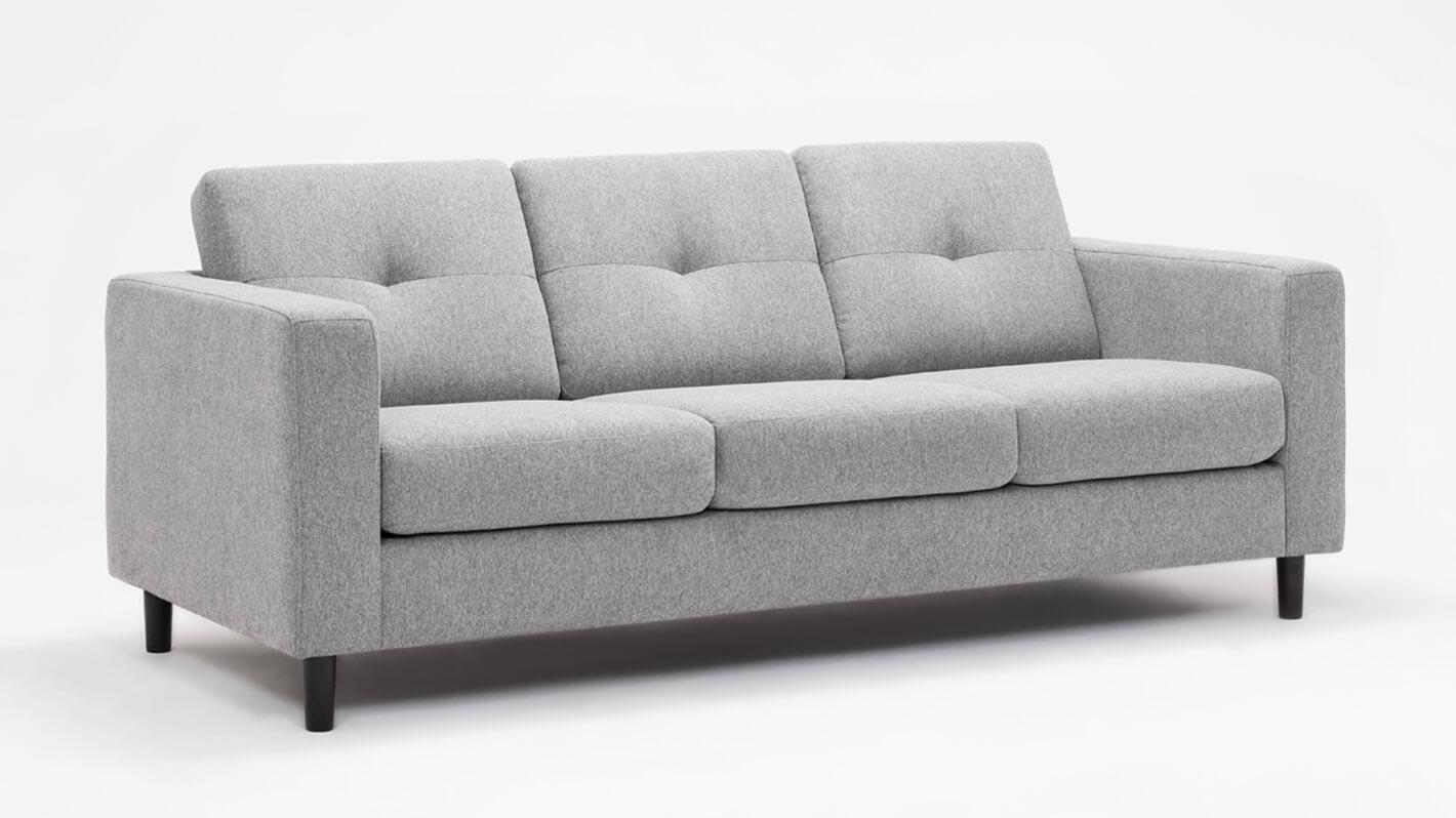 Solo Sofa Mila Grey Eq3 Fabric Sofa Sofa Professional Upholstery Cleaning