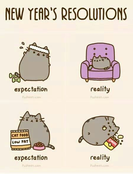 New Year\'s resolutions   Pusheens   Pinterest   Pusheen and Humour