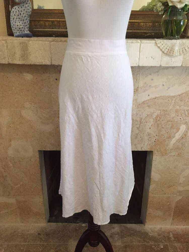 New Fresh Produce White Cotton Skirt Womens Large Cover Up Tee Beach Pool Freshproduce