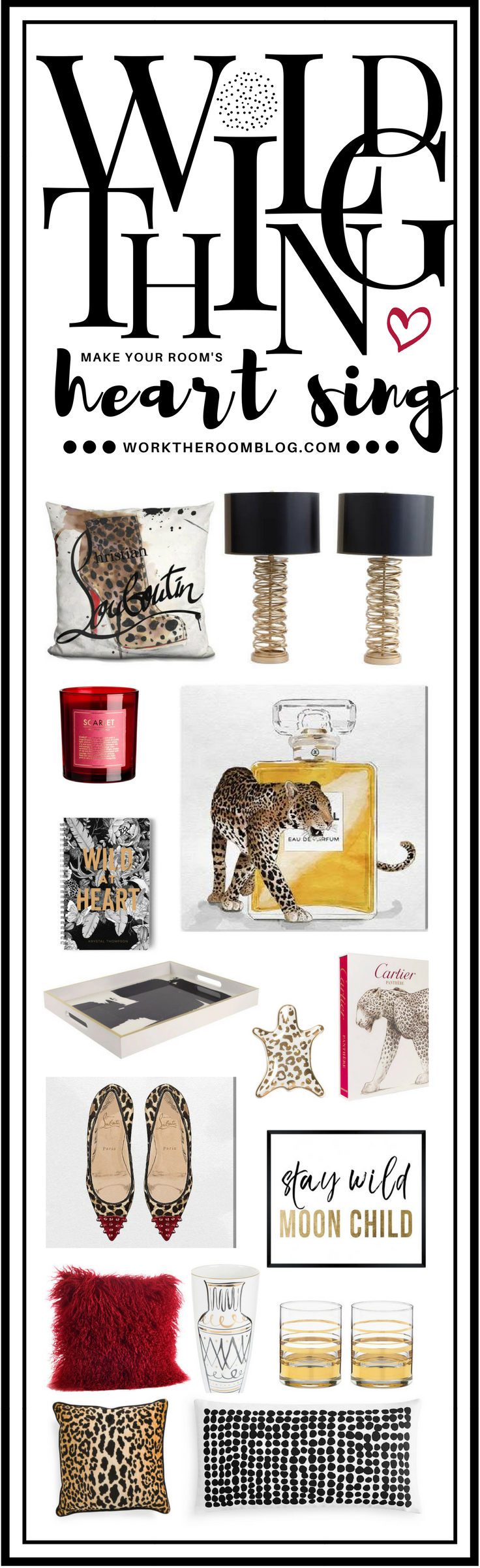 Leopard decor wild thing make your roomus heart sing uc
