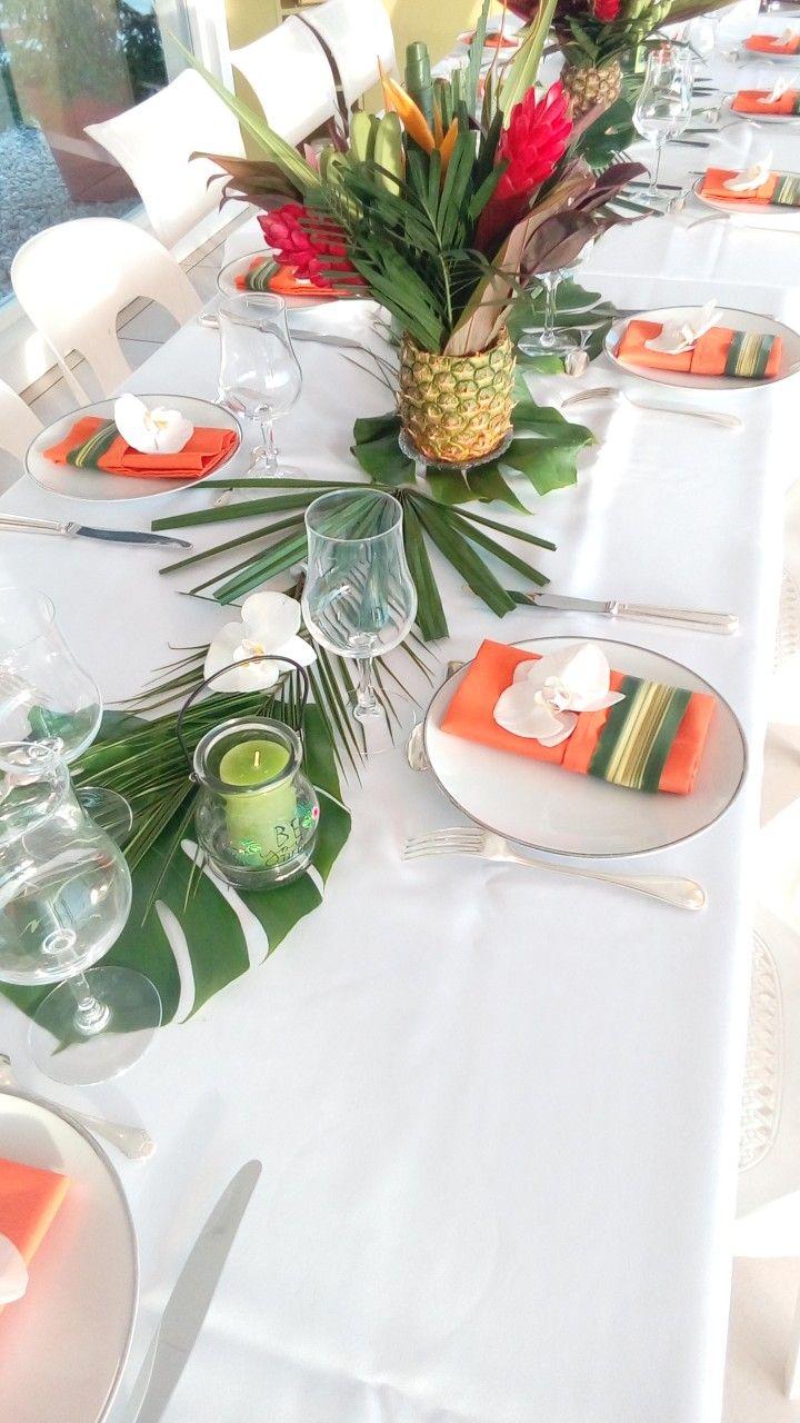 Decoration De Table Ambiance Tropicale Exotique Avec Images