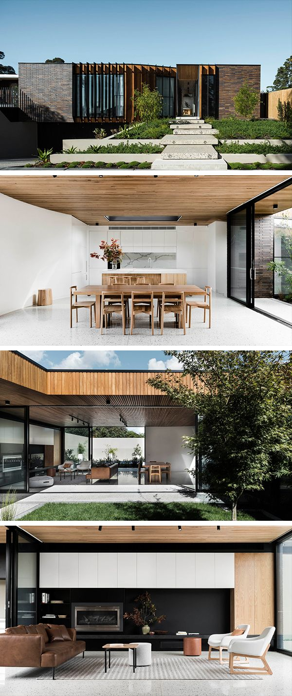 Best Kitchen Gallery: Courtyard House By Figr Architecture Design In Templestowe of Container House With Courtyard on rachelxblog.com