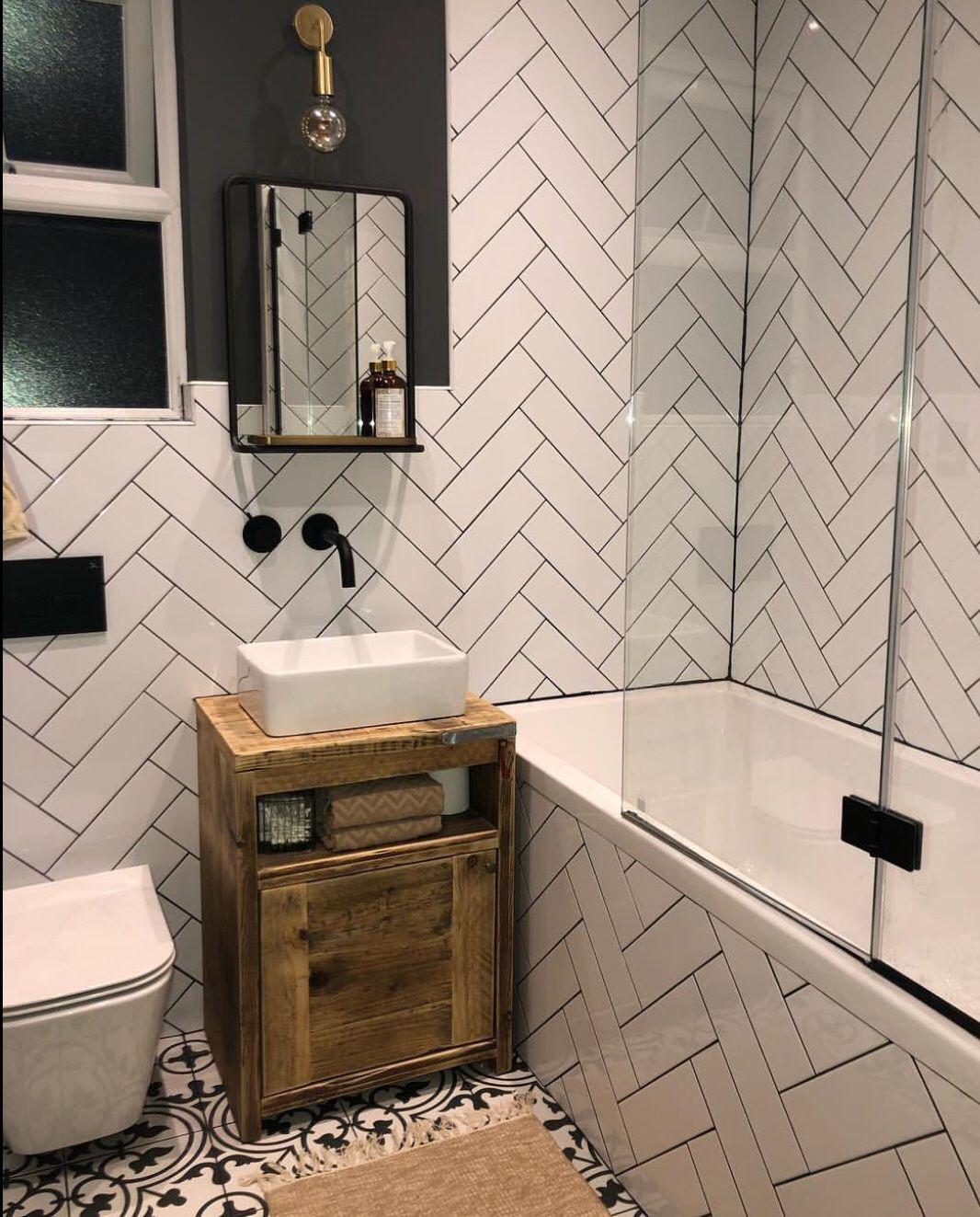Metro XL FLAT White Gloss Wall Tiles 10x30cm | Small ...
