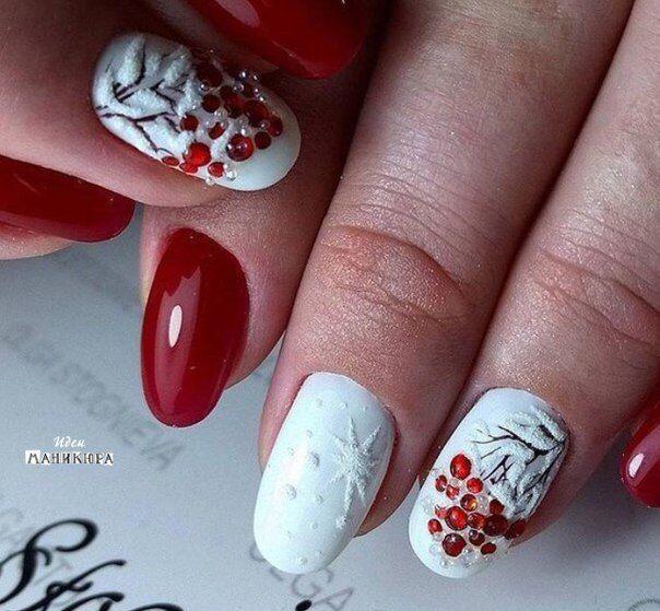 Маникюр - дизайн ногтей | Nails xxx | Pinterest | Uñas navidad ...