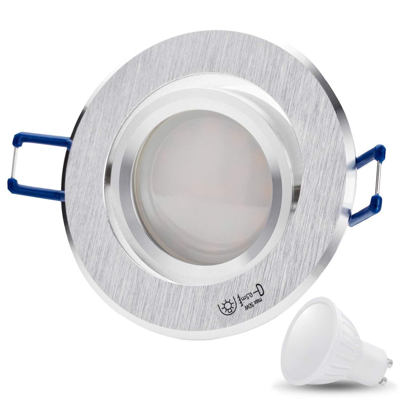 linovum® 10x Einbaustrahler Rahmen Einbauleuchten Deckenleuchte Spot