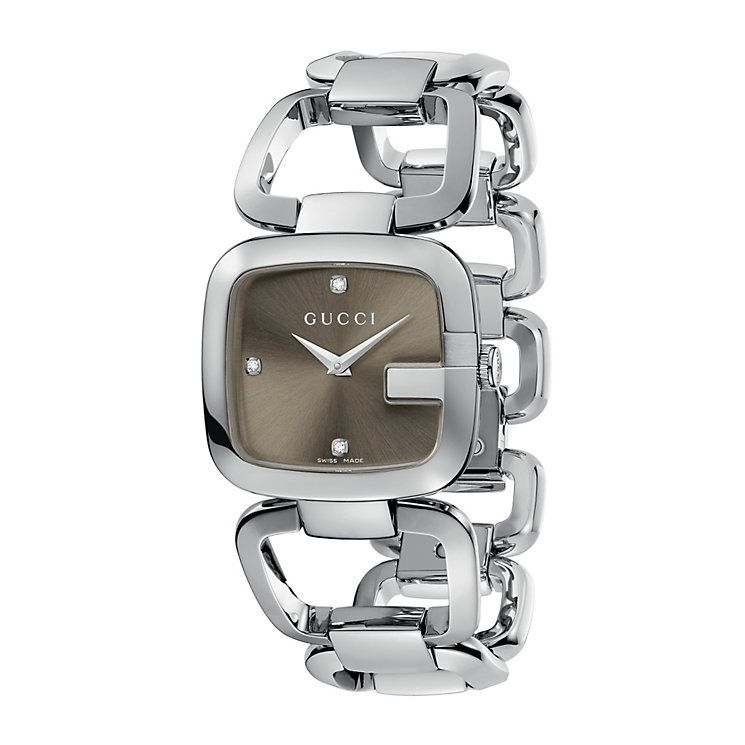 81c07cf3322 Gucci G-Gucci ladies  diamond stainless steel bracelet watch - Product  number 6789676