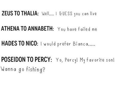 The relationship between gods and their children! | Percabeth in