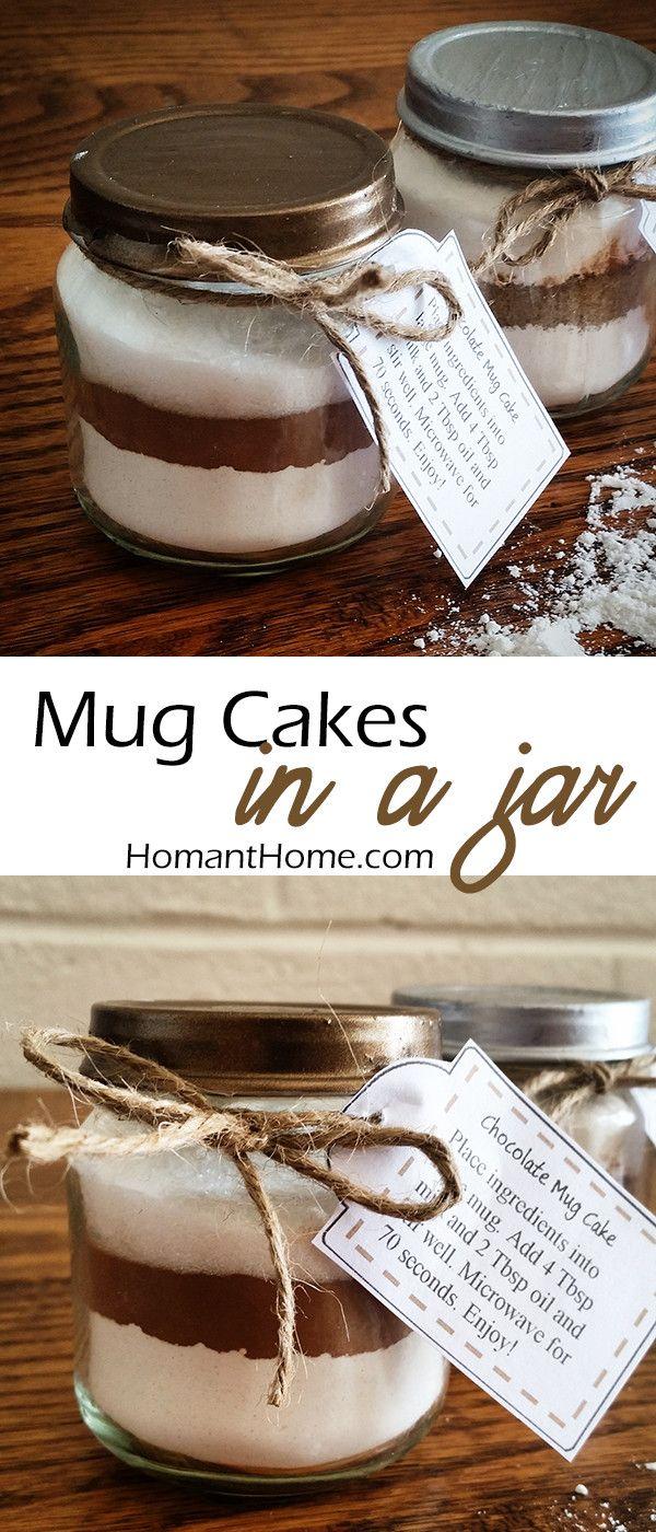 Chocolate Mug Cake Mix | Recipe | Cake in a jar, Gift cake ...