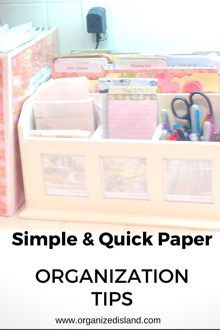 Paper Organization - | Easy Home Organization Ideas | Pinterest ...