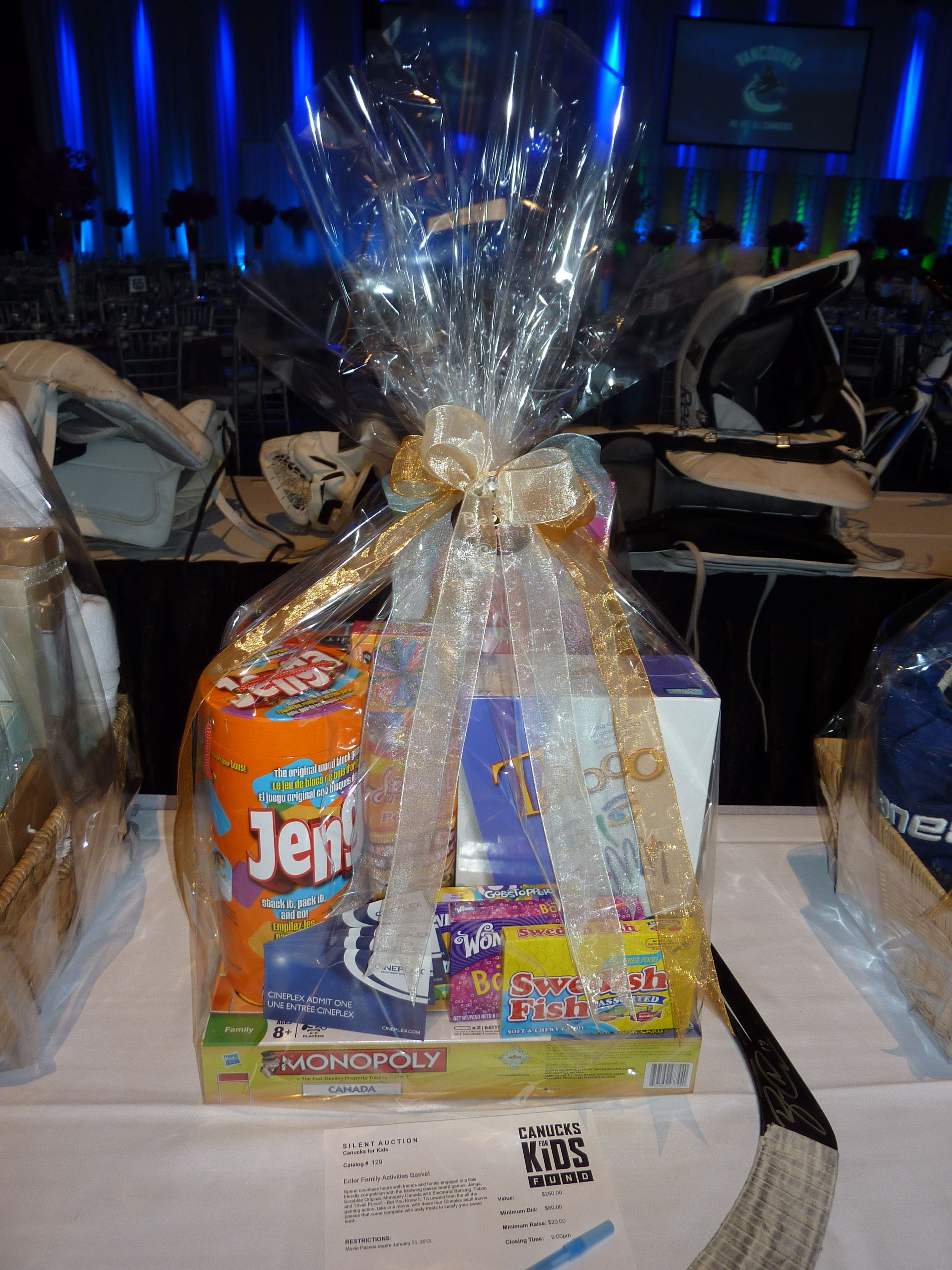 Games basket charity events silent auction game basket