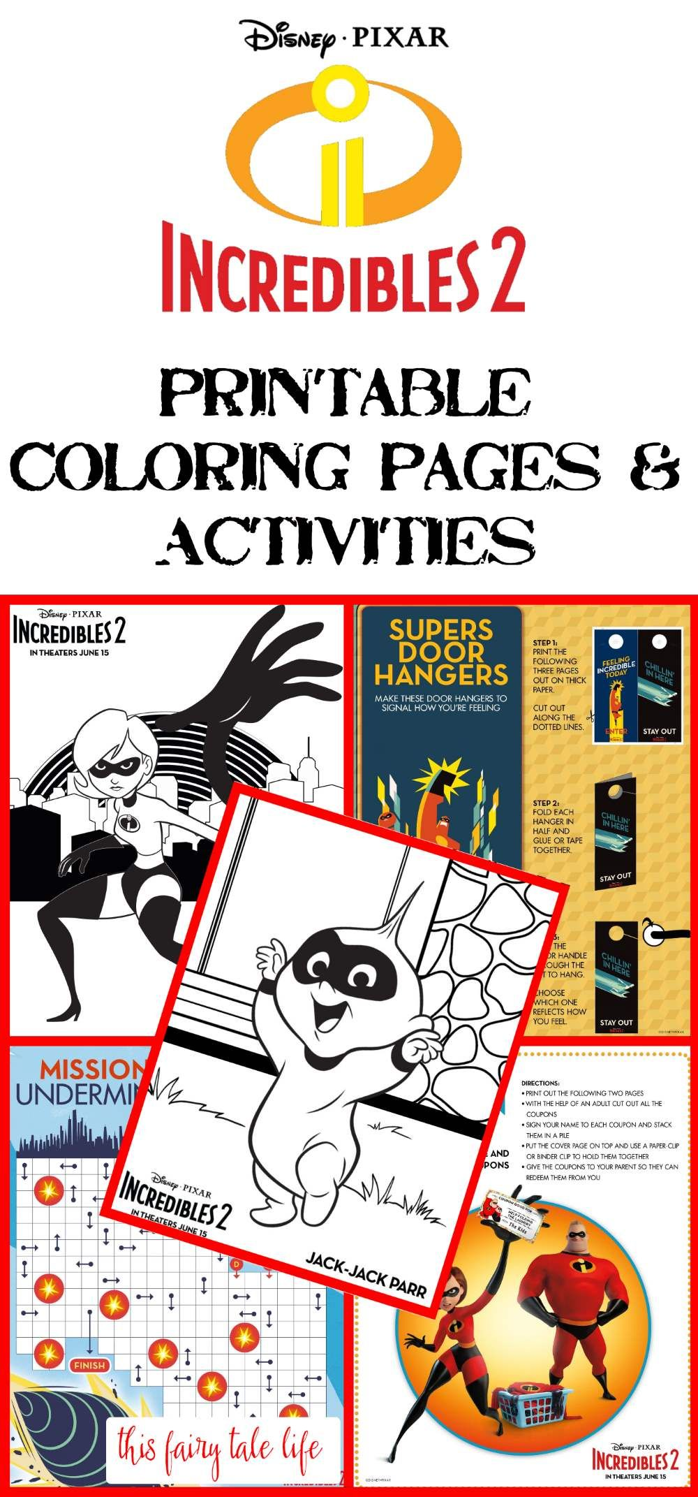 Incredibles coloring pages recipes and printable activities