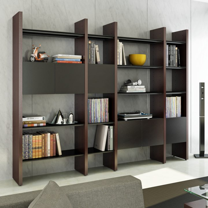 Modern Living Room Shelves Shelving Units And Bookcases Bdi Furniture Shelving Units Living Room Living Room Shelves Room Shelves