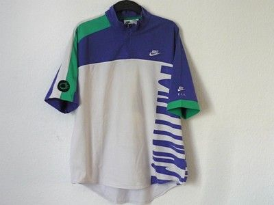 90 S VINTAGE NIKE ANDRE AGASSI AIR TECH CHALLENGE COURT POLO SHIRT 80 S HOT  LAVA