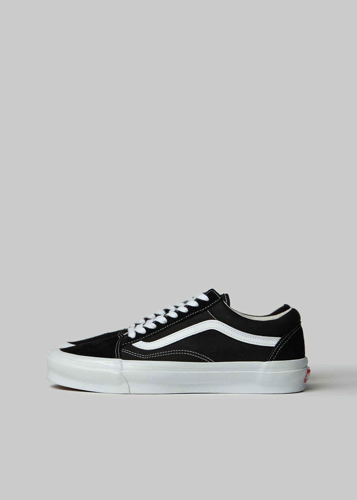 Vault by Vans Men's Old Skool LX Sneaker in BlackTrue White