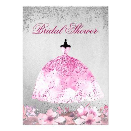 Pink silver elegant bridal shower invitation elegant bridal pink silver elegant bridal shower invitation elegant bridal shower bridal showers and shower invitations filmwisefo