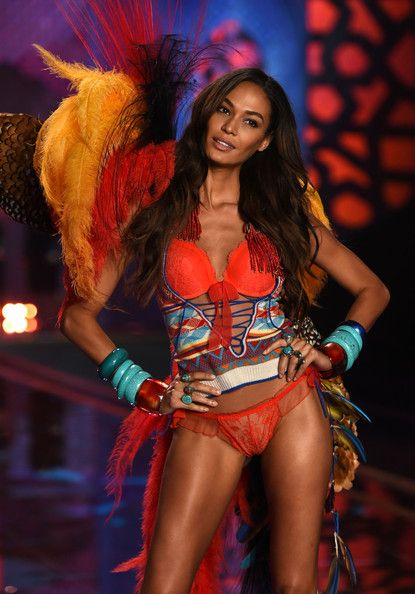 Model Joan Smalls walks the runway during the 2014 Victoria's Secret Fashion Show at Earl's Court Exhibition Centre on December 2, 2014 in London, England.