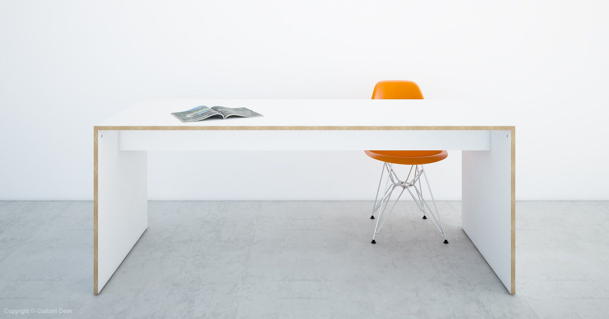 Custom Plywood Table with Solid Sides 18mm | Plywood table, Plywood ...