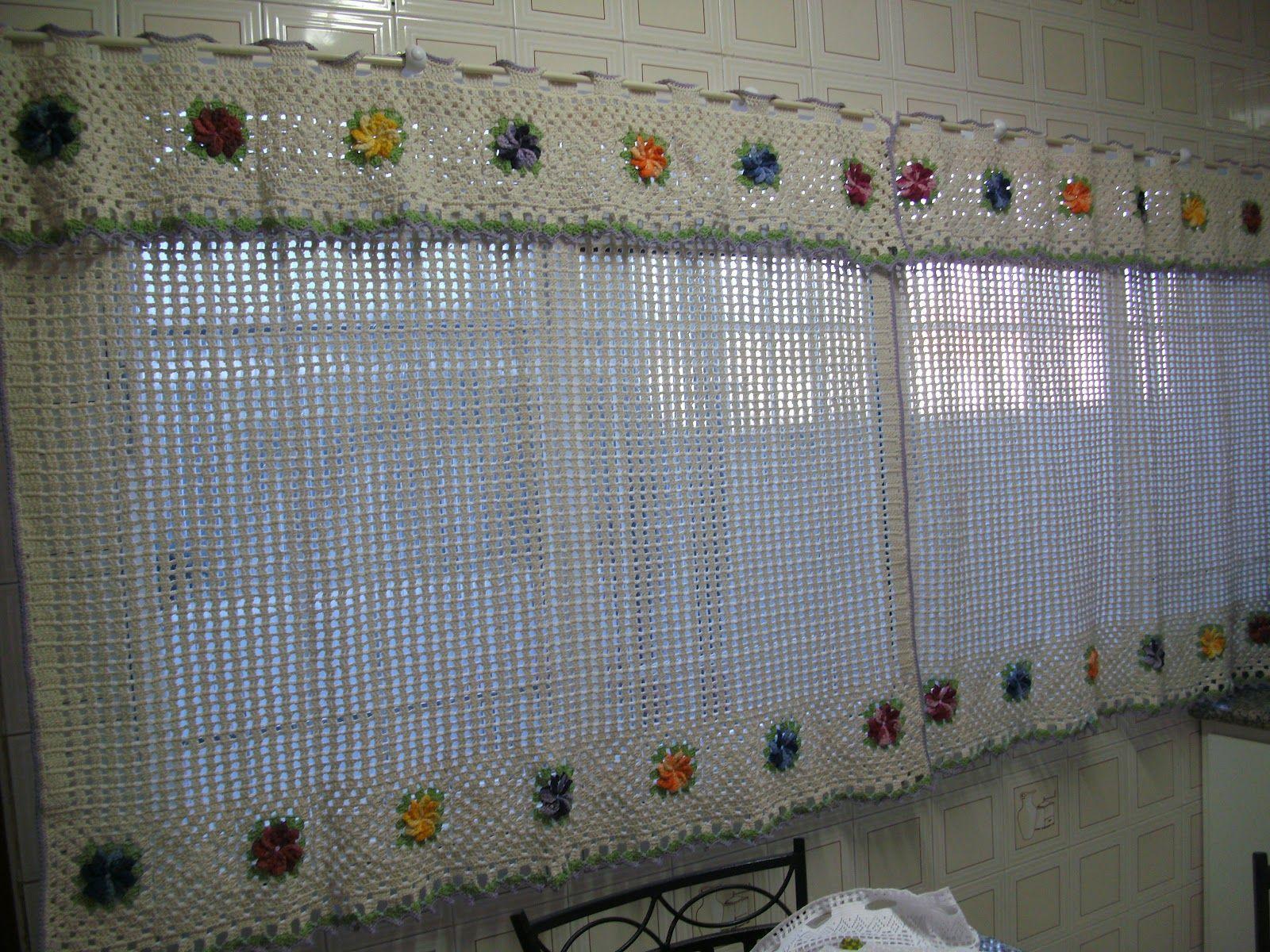 Grafico Da Cortina Com A Flor Catavento Em Croche Pesquisa Google