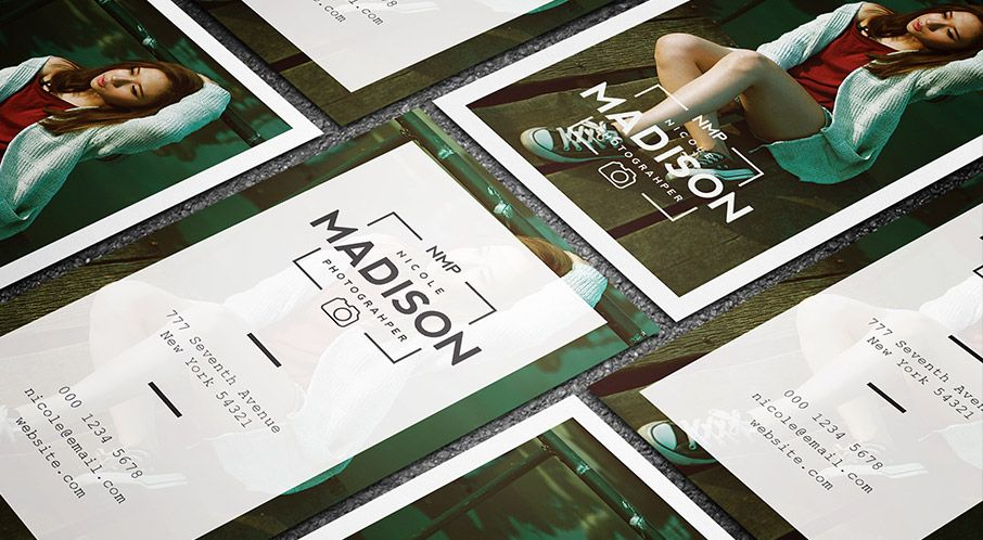 Free clean stylish photographer business card template tarjetas free clean stylish photographer business card template flashek Gallery
