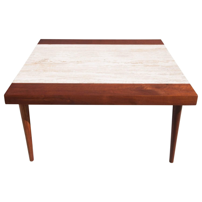 Midcentury Travertine Coffee Table Coffee Table Coffee Table Square Mid Century Modern Table [ 1500 x 1500 Pixel ]