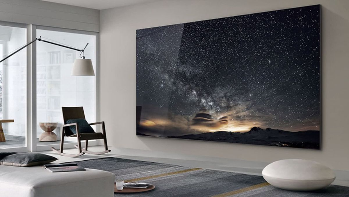 Imagine Having A Tv In Your Home So Big That It Practically Takes Up The Entire Wall It S Now Possible Thanks To Samsu Big Tv Wall Big Screen Tv Tv In