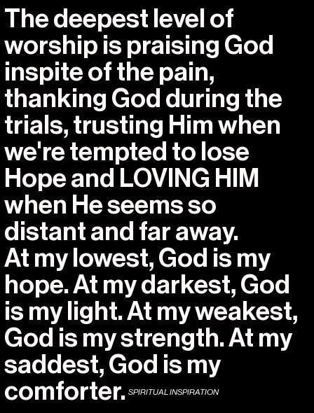 I Place All My Faith Love And Trust In God Without Him In My Life