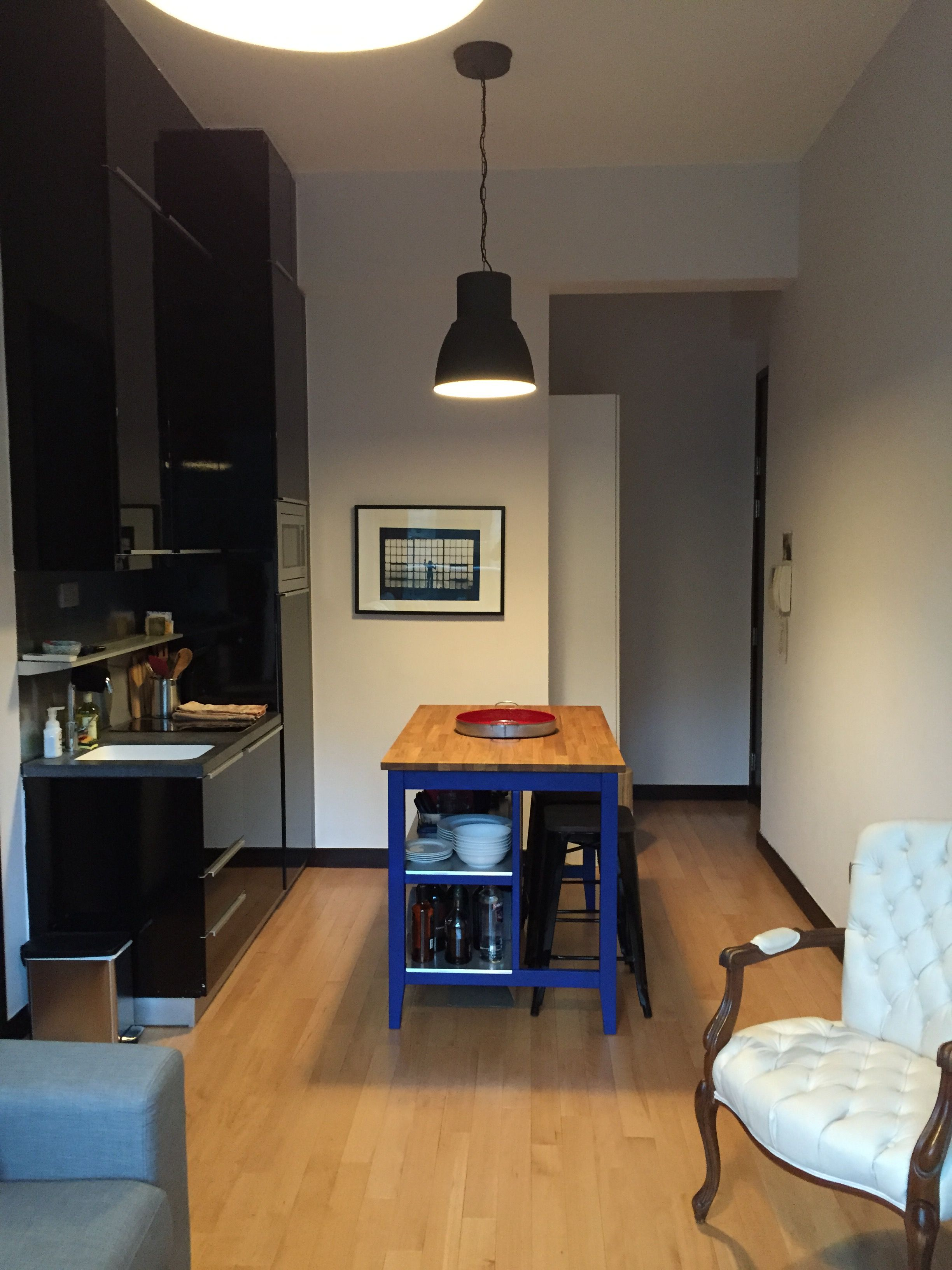 440 sq ft apartment kitchen Ikea Stenstorp kitchen island Hong