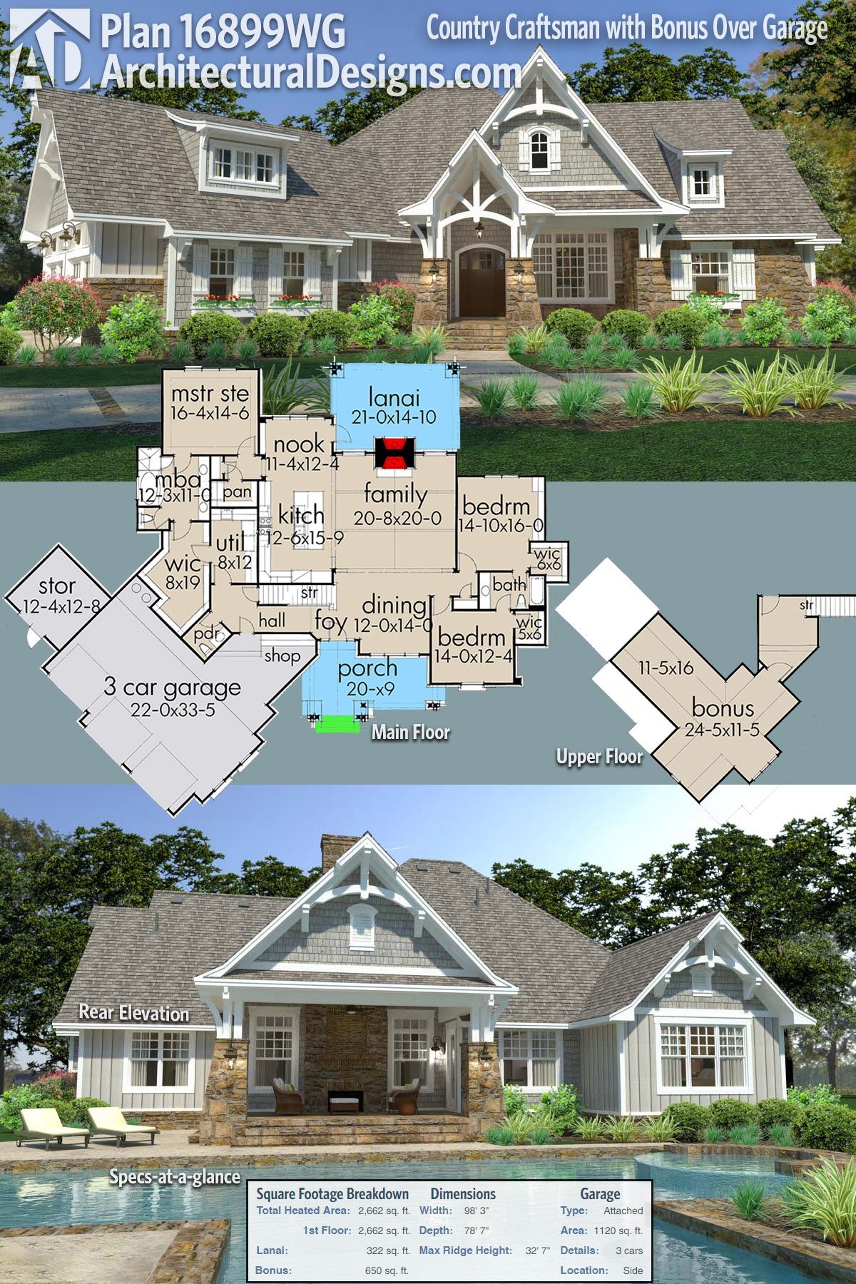 Introducing Architectural Designs Country Craftsman House Plan