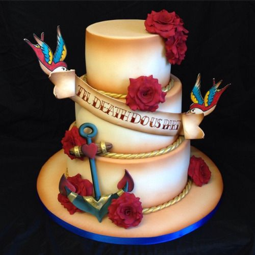 tattoo wedding cake sailor jerry wedding cakes search wedding ideas 20764