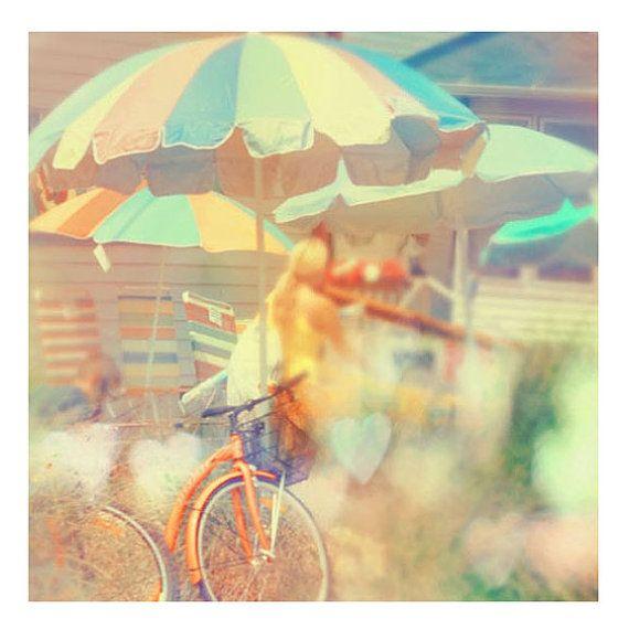 Beach Photograph Seaside Town Summer Decor Umbrella by ellemoss, $30.00