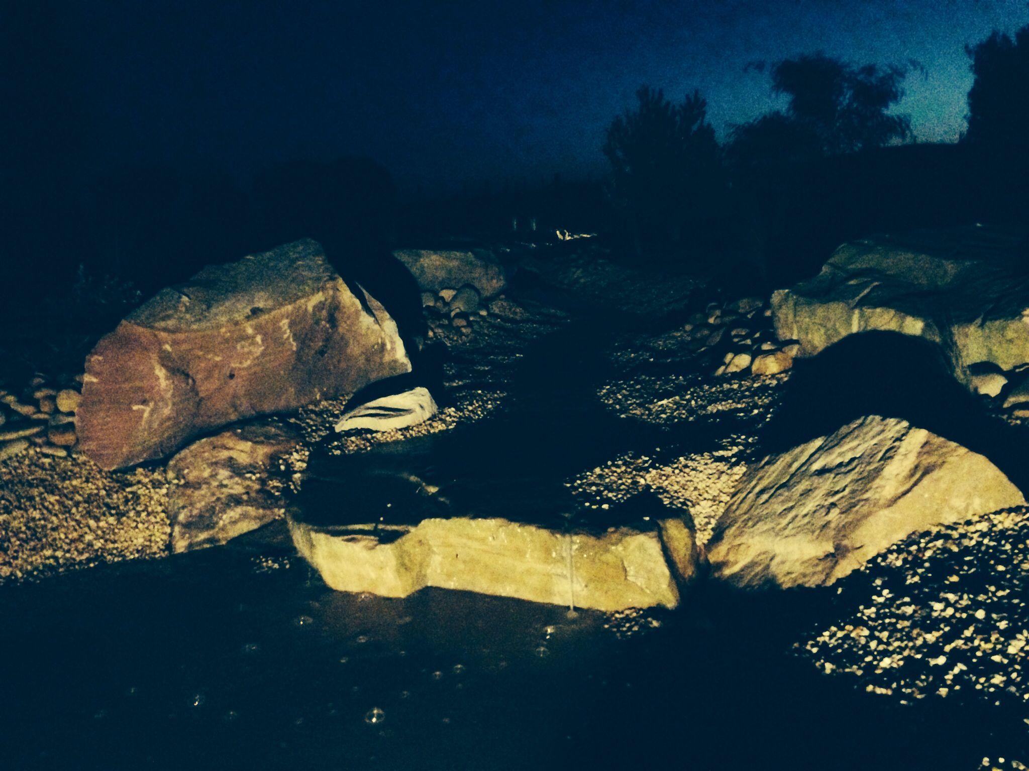 Creek bed, garden lighting, Ac landscape developments. Warrnambool